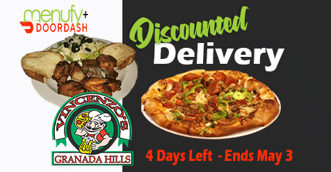 Vincenzo's Pizza Granada Hills – Order Online Discount Delivery through May 3