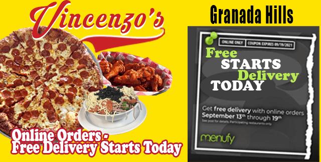 Get A Freebie – Delivery | Vincenzo's Granada Hills