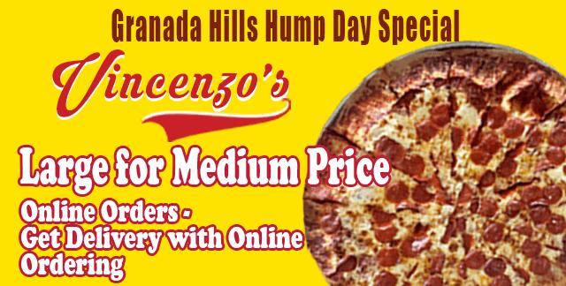 Pizza Special | Vincenzo's Granada Hills